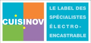 logo CUISINOV   label fond bleu