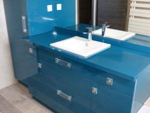 Meuble de salle de bain moderne bleu